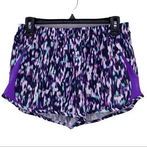 NIKE Printed Purple 5K Tempo Running Shorts Size M
